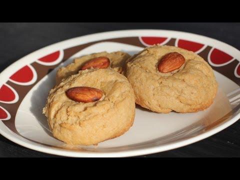 Vegan Chinese Almond Cookies Recipe - Vegan Chinese New Year Dessert - Vegan Baking
