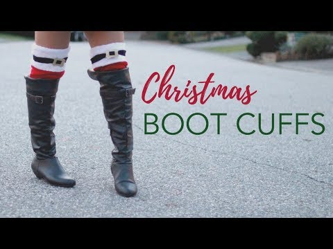 DIY CHRISTMAS BOOT CUFFS FROM DOLLAR TREE! -Great Gift Ideas!