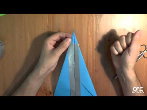 How to make a Paper Airplane and Launcher with Elastic Bands