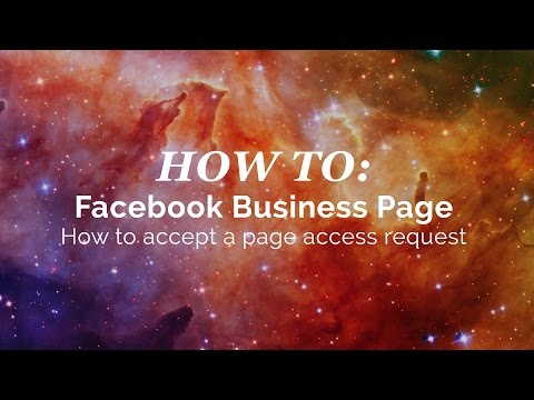 Facebook Business Page: How to accept a page access request