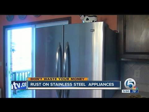 Rust on stainless steel appliances