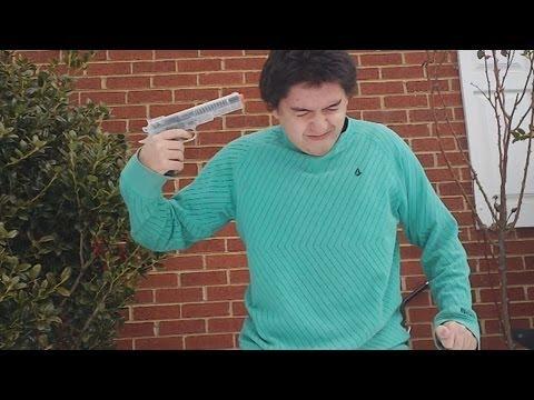 Shooting My Head With an Airsoft Gun!