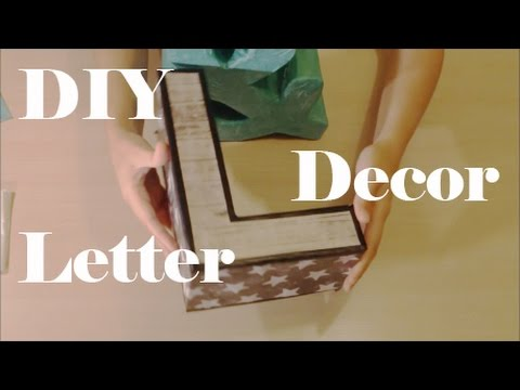 Decorative letters craft DIY
