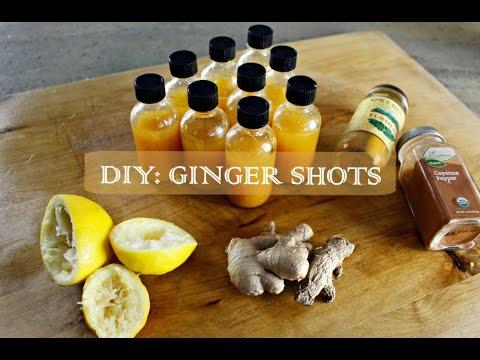 DIY GINGER SHOTS | SisterAv