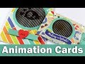 Interactive cards with animated stamps