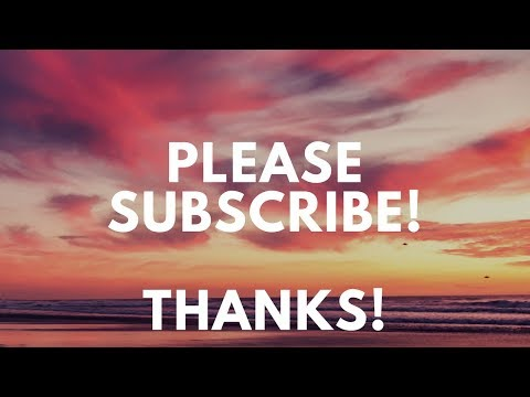 Subscribe To My Channel - Thanks!