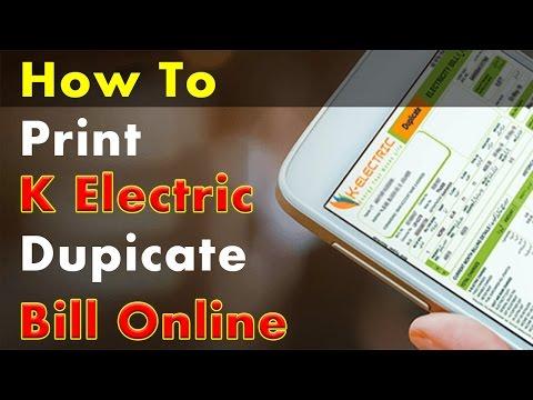 K Electric Bill Duplicate - K Electric Bill Online - K Electric Bill Print View Download Bill