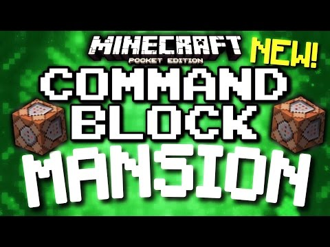 Minecraft Pocket Edition - SELF-BUILDING MANSION! (Command block & redstone)