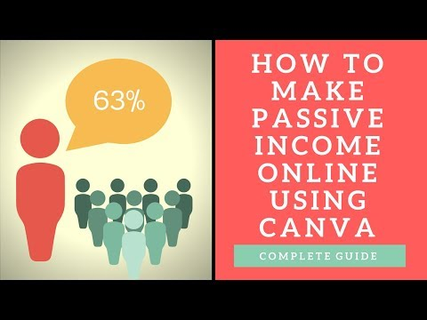 How to Make Passive Income Online Using Canva for Free!