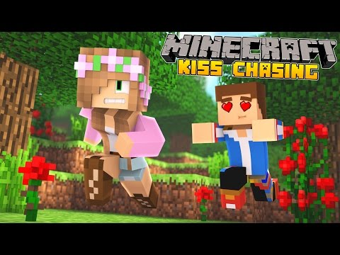 Minecraft - Little Kelly Adventures : KISS CHASING WITH MY BOYFRIEND!