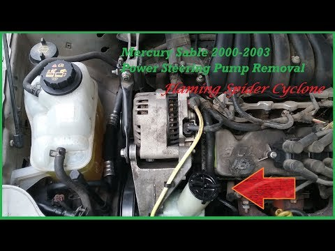 Power Steering Pump Removal: Mercury Sable 2000-2003