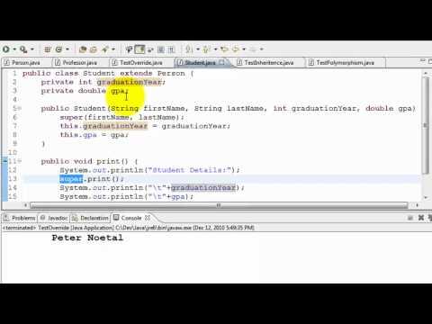 Java Tutorial - Inheritance and Polymorphism