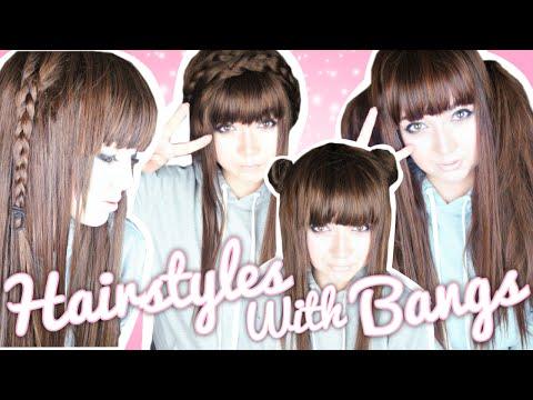 ♡ Easy Hairstyles for Bangs! ♡   SammieSpeaks
