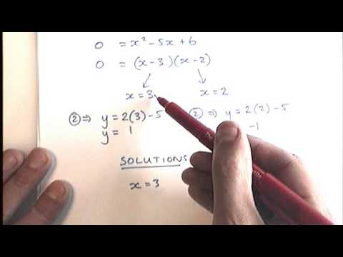 How to - Solve Simultaneous Equations (one linear, one non-linear)
