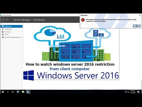 How to watch windows server 2016 restricted from client computer - 25