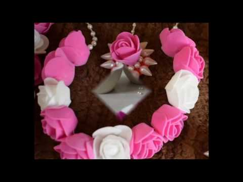 Artificial Flower Jewellery Making-Small Necklace and Mangtikka
