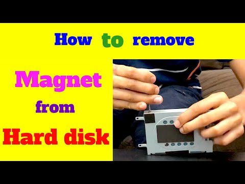 how to remove magnet from hard disk drive of old laptop