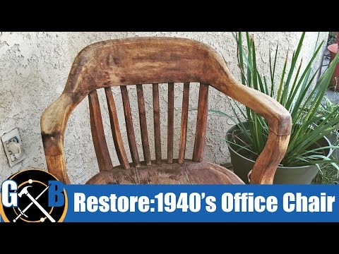 Clean and Restore a Vintage 1940's Office Chair (Attempt) :: How To
