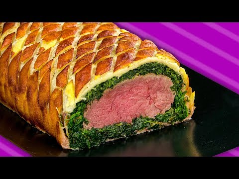 Beef Wellington with Bacon and Spinach: A surprise in a roll