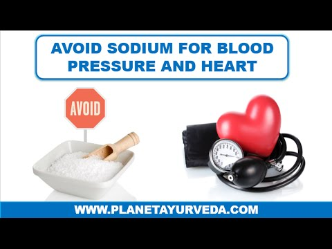 Avoid Sodium for High Blood Pressure and Heart Problems
