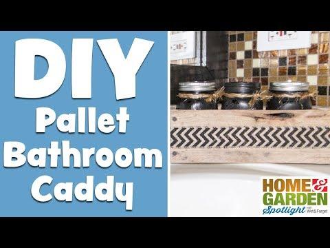 DIY Mason Jar Bathroom Caddy