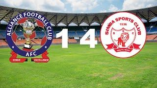 ALLIANCE FC 1 VS 4 SIMBA SC MAGOLI YOTE