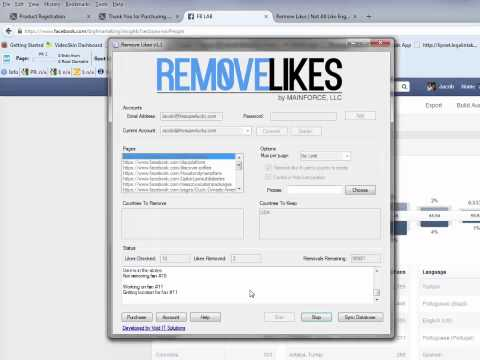 Remove Facebook Likes Automatic Software