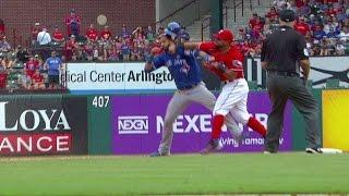 TOR@TEX: Tempers flare between Blue Jays, Rangers