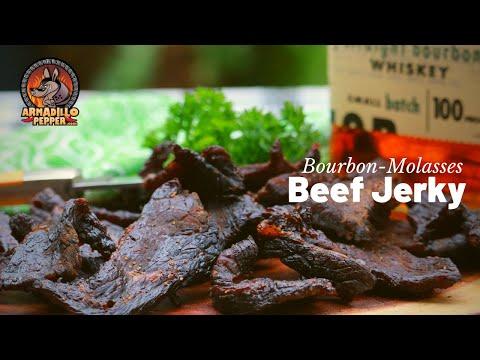 Beef Jerky in the Masterbuilt Smoker   Bourbon-Molasses Recipe