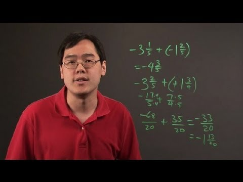How to Add or Subtract Negative Mixed Numbers : Negative Numbers & Other Math Tips