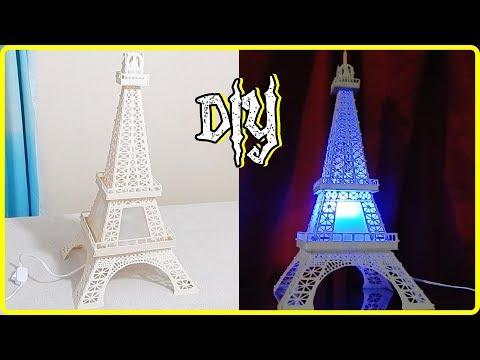 Aprenda fazer uma luminária de pvc Torre Eiffel parte 2