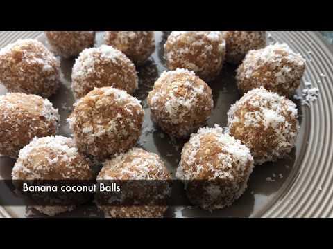 No bake Banana Coconut Balls - Episode 335 - Baking with Eda