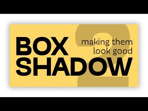 CSS box-shadows - how to make them look good