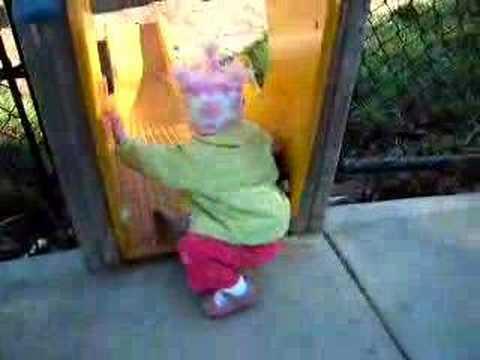 Annabelle on the slide