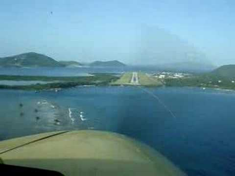 Landing at Beef Island, Tortola, B.V.I.