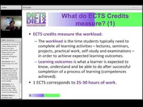 ECTS Webinar 1 - Part 1 of 3
