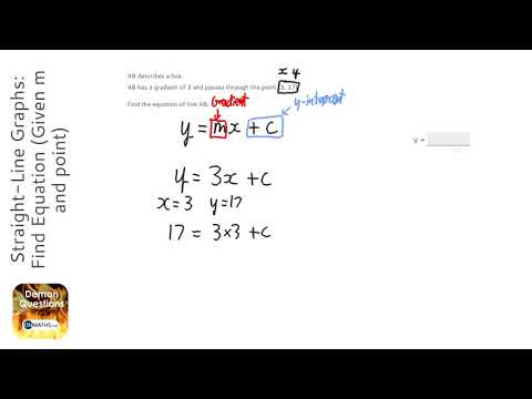 Straight-Line Graphs: Find Equation (Given m and point) (Grade 5) - OnMaths GCSE Maths Revision
