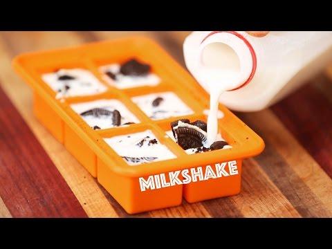 Awesome Cookies and Cream Milkshake Hack - 2 Ingredients!