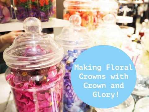 Making Floral Crowns with Crown and Glory!  | The Owlet Blog
