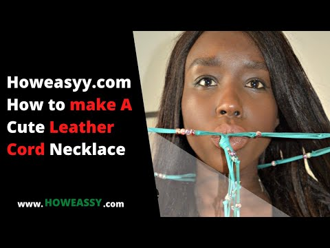 How to make A Cute Leather Cord Necklace