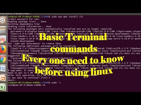 Basic linux ubuntu Terminal Commands Every one need to know before using linux