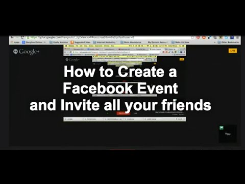 How To Create a Facebook Event and Invite All Your Friends