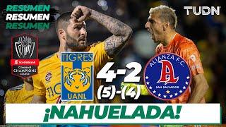 Resumen y Goles   Tigres 4 (5) - (4) 2 Alianza FC   CONCACAF Champions League - Vuelta   TUDN