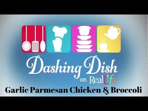Garlic Parmesan Chicken & Broccoli  | Dashing Dish