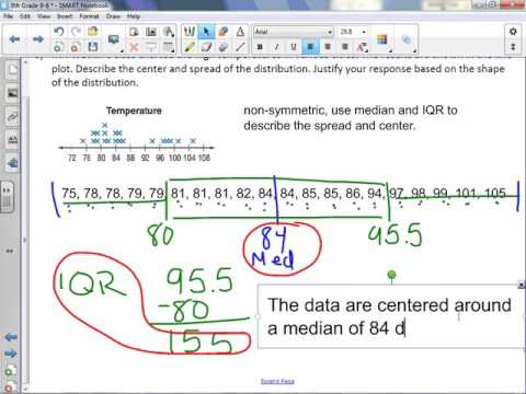 8th Grade 9-6: Analyze Data Distributions
