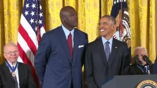 """President Obama calls Michael Jordan """"the Michael Jordan of greatness"""""""
