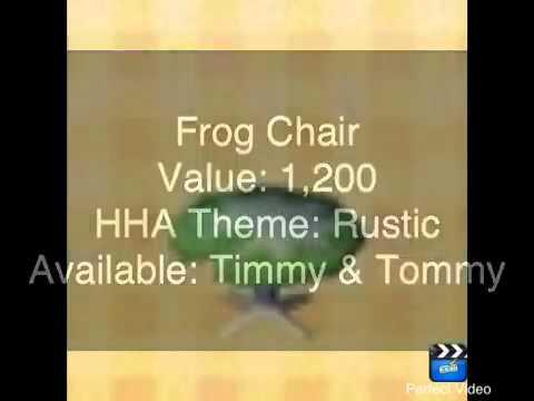 Animal Crossing New Leaf - Frog - Furniture Set