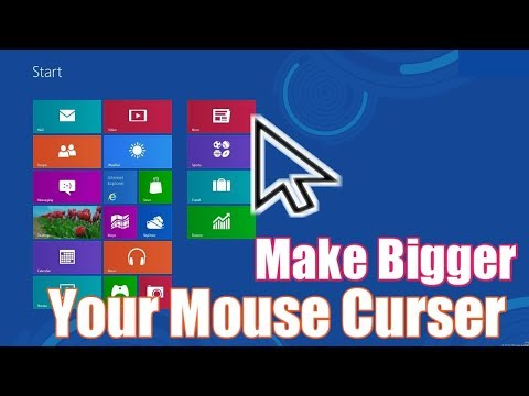 How To Increase  Size Of Mouse Curser // Pointer Make Mouse Pointer Bigger