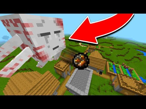 GIANT GHAST APPEARS IN MY MINECRAFT WORLD!! (Minecraft Addons)