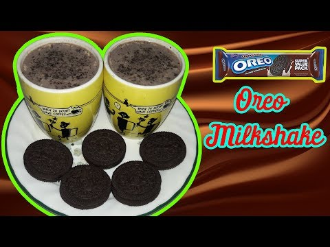 SIMPLE AND EASY OREO COOKIES MILK SHAKE RECIPE // OREO MILK SHAKE WITHOUT ICECREAM